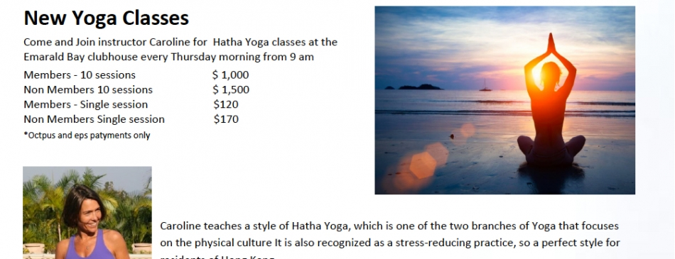 Emerald Bay Yoga Classes