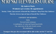 Poster Surf Ski Teenagers Course V2