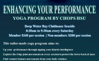 Poster Yoga Program Enhancing Your Performance